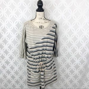 Marc by Marc Jacobs Striped Drawstring Waist Dress